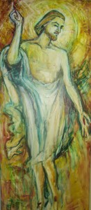 Oil Paitnting by Sr Mary Grace Thul - the Risen Christ